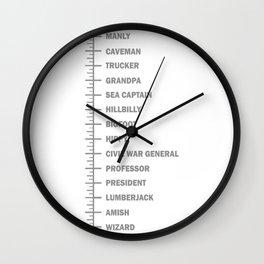 Beard Length Chart Wall Clock