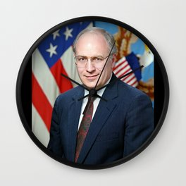 Official portrait of Secretary of Defense Richard B. Cheney Wall Clock