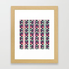 Circles and Stripes Decorative Pattern Framed Art Print