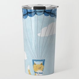 Cutie Parachuting Dog Travel Mug