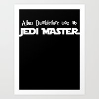 Master Dumbledore black Art Print