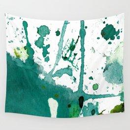 emerald green splash Wall Tapestry