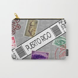 Welcome to Puerto Rico White/Grey Carry-All Pouch