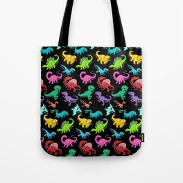 Rainbow dinosaurs Tote Bag