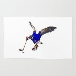 Canada Goose Playing Hockey Rug