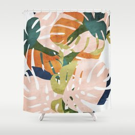 Monstera delight Shower Curtain