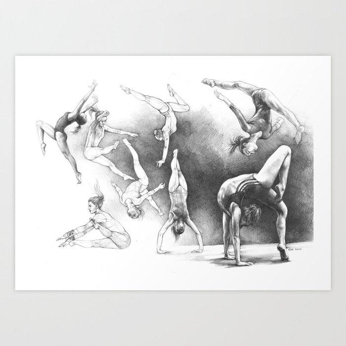 Gymnastics Art Print