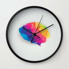Geometric brain Wall Clock