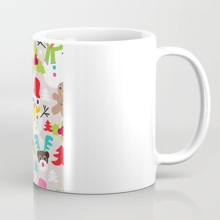 Christmas retro kids illustration pattern Coffee Mug by ...