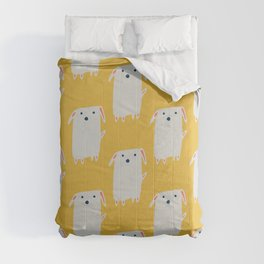 Cute sweet Dog Yellow Comforters