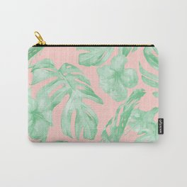 Island Life Seashell Pink + Light Green Carry-All Pouch
