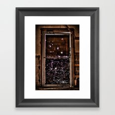 Push Framed Art Print