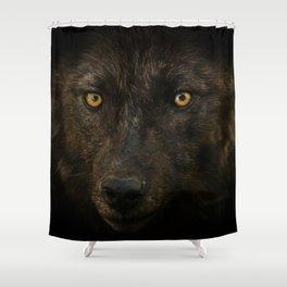 Black Wolf Shower Curtain