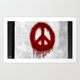 Peace in Ocean Beach Art Print