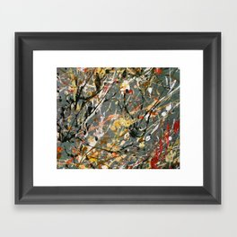 Jackson Pollock Interpretation Acrylics On Canvas Splash Drip Action Painting Framed Art Print