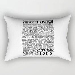 Here's To The Crazy Ones - Steve Jobs Rectangular Pillow