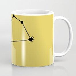 LEO (BLACK-GOLD STAR SIGN) Coffee Mug
