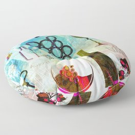 Abstract Wine Background Floor Pillow