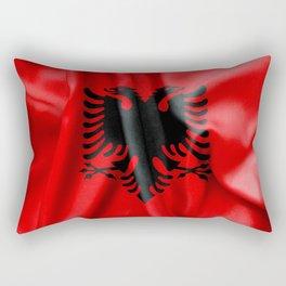 Albania Flag Rectangular Pillow