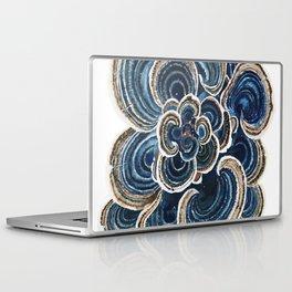 Blue Trametes Mushroom Laptop & iPad Skin