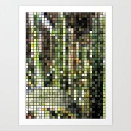 Cactus Garden Mosaic Art Print