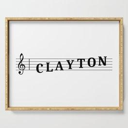 Name Clayton Serving Tray