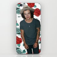 harry styles iPhone & iPod Skins featuring Harry Styles by Claudia