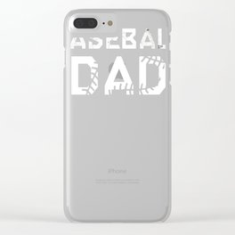 Men's-BASEBALL-DAD-Shirt---Fathers-Day-Gift Clear iPhone Case