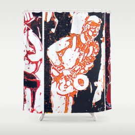 Jazzing it up          by Kay Lipton Shower Curtain