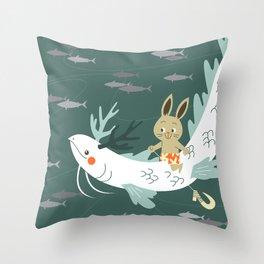 RIA - Sea Dragon Throw Pillow