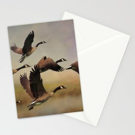 Geese On A Foggy Morning Stationery Cards