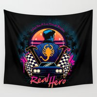 hero Wall Tapestries featuring Real Hero by Bamboota