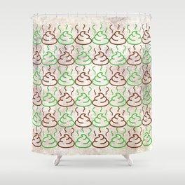 Poop Pattern Shower Curtain