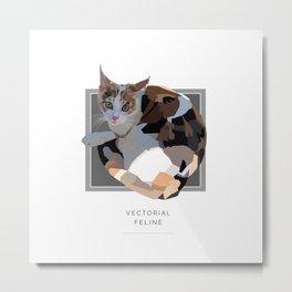 Vectorial Feline Metal Print