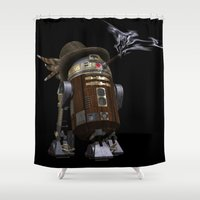 sci fi Shower Curtains featuring Steampunk Sci-Fi  by gypsykissphotography