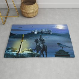 Camelot And The Sword Excalibur Rug