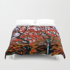Raging Trees Duvet Cover