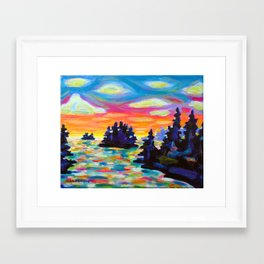 Landscape With Saucers Framed Art Print
