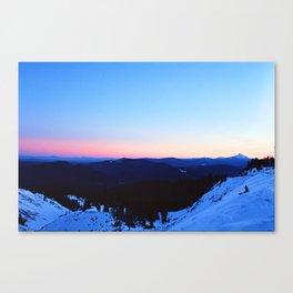 Hood Sunset Canvas Print