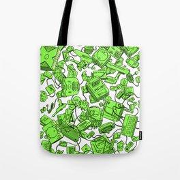 Vintage Gamer Green Tote Bag