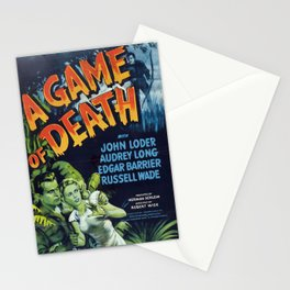 A Game of Death, vintage horror movie poster Stationery Cards