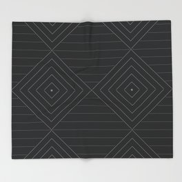 Negative Line Joins Throw Blanket