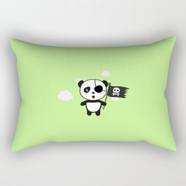 Panda Pirate with Flag T-Shirt for all Ages Da19o Rectangular Pillow