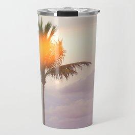 Palm Trees on the Beach Travel Mug