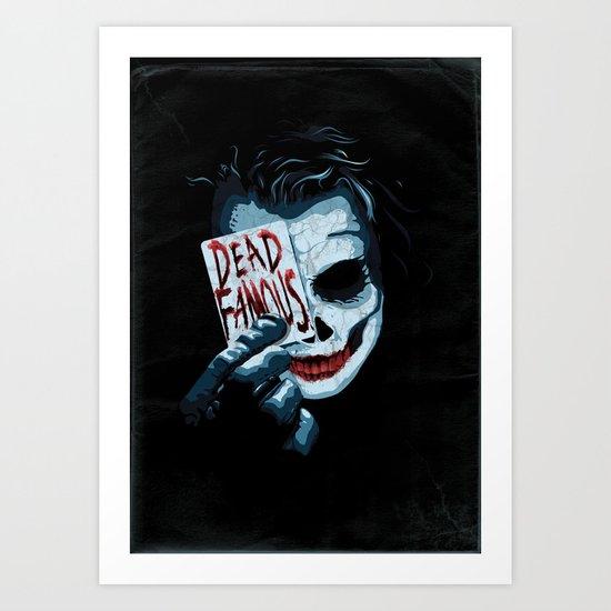 Dead Famous #2 Heath Ledger Art Print