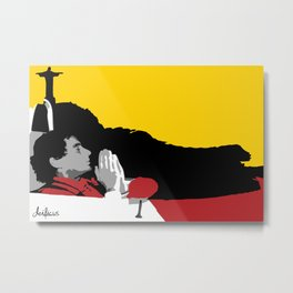 Against All Odds - Ayrton Senna Metal Print