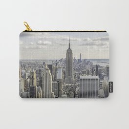 Empire State and Manhattan city skyline. View from Rockefeller Center Carry-All Pouch