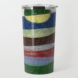 Stay On Top - Abstract, textured, pastel layers Travel Mug