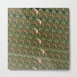 3D triangles with camo pattern Metal Print