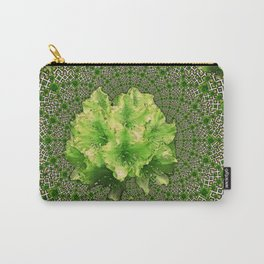 Lime Flowers & Green Irish Roses Optical Art Carry-All Pouch